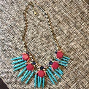 Loft statement necklace turquoise
